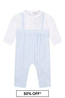 ثوب أطفال منسوج قطن أزرق شاحب للأولاد البيبي