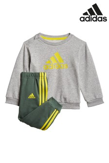 adidas Infant BOS Crew Neck Top and Jogger Set