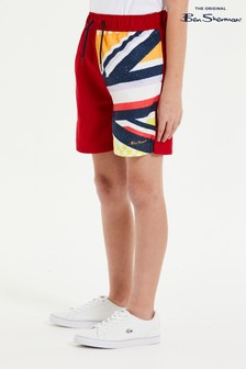 Ben Sherman® Red Union Jack Sliced Swim