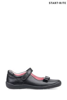 Start-Rite Giggle Black Leather Shoes
