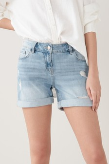 Bleach Ripped Boy Shorts