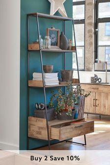 Oak Effect Jefferson Storage Ladder Shelf