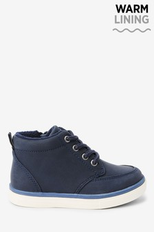 Navy Warm Lined Chukka Boots (Younger)