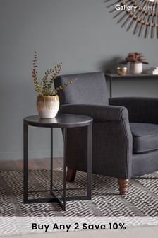 Necton Black Side Table By Hudson Living