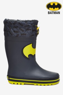 Black Warm Lined Cuff Wellies (Younger)