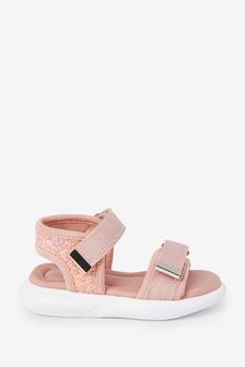 Pink Memory Foam Sporty Sandals (Younger)