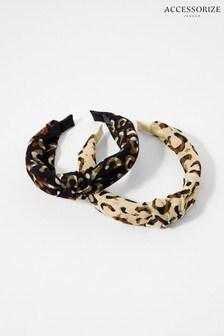 Accessorize Brown Animal Headband Set