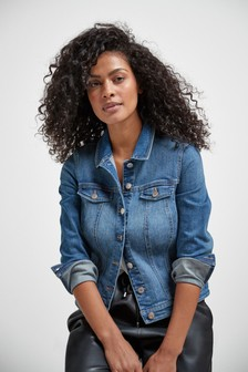 Mid Blue Fuller Bust Denim Jacket