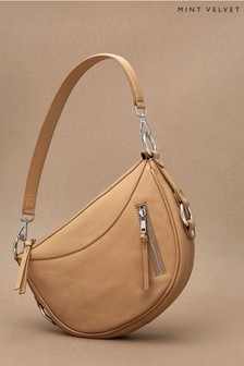 Mint Velvet Cecelia Camel Leather Hobo Bag