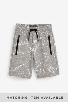Grey Shorts Splat Print (3-16yrs)