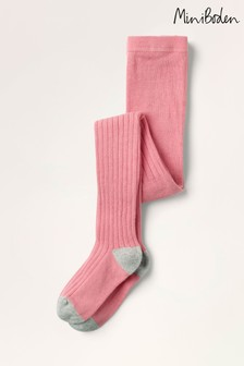 Boden Pink Ribbed Tights