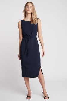 Navy Soft Belted Dress