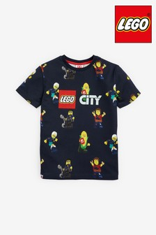 Navy LEGO® All Over Print T-Shirt (2-12yrs)