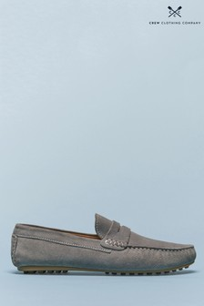 Crew Clothing Grey Casual Moccasins