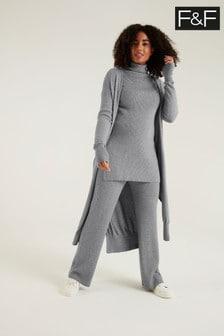 F&F Izzy Longline Maxi Grey Cardigan