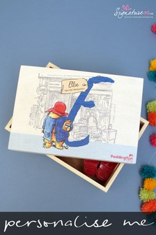Personalised Paddington Bear Initial Memory Box by Signature PG