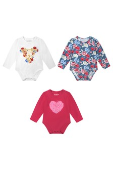 Baby Girls Berry Sorbet Cotton Bodysuits Set (3 Piece)