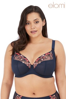 Elomi Navy Charley Under Wire Plunge Bra