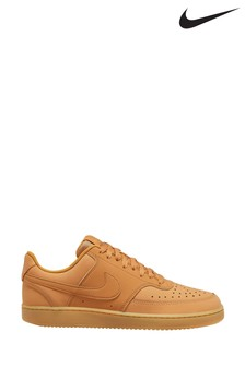 Nike Tan Court Vision Low Trainers