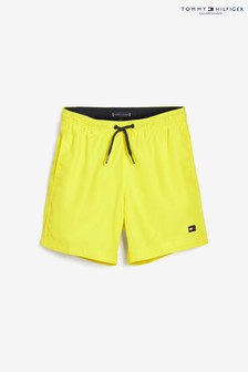 Tommy Hilfiger Yellow Tommy Solid Drawstring Swim Shorts