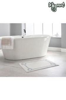 Rope Border Bath Mat by Dip & Drip