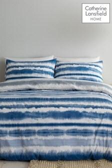 Catherine Lansfield Tie Dye Seersucker Duvet Cover and Pillowcase Set