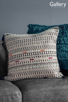 Gallery Direct Meccah Embroidered Geo Tassel Cushion