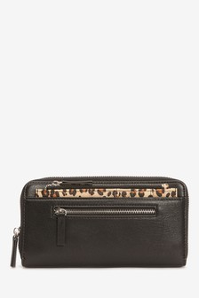 Black Animal Purse With Pull-Out Card Holder
