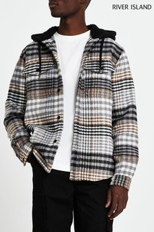 River Island Long Sleeve Large Scale Check Overshirt