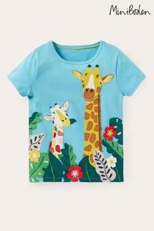 Boden Blue Safari Applique T-Shirt
