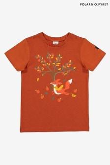 Polarn O. Pyret Red GOTS Organic Printed T-Shirt
