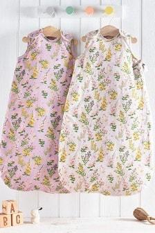 2 Pack Multi Floral 2.5 Tog Sleep Bags