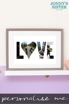 Personalised Love Photo Upload Framed Print by Jonnys Sister