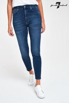 7 For All Mankind Dark Denim Slim Jeans