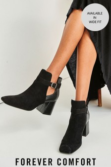 Black Forever Comfort® Square Toe Sock Boots