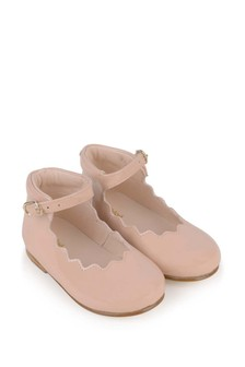 Girls Pink Leather Shoes