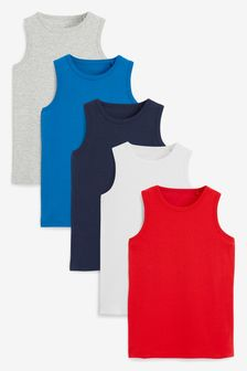 Multi 5 Pack Organic Vests (1.5-16yrs)