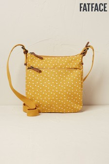 FatFace Yellow Canvas Spot Mini Cross Body Bag