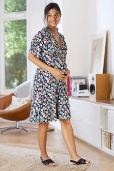 Floral Maternity Jersey Tea Dress