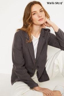 White Stuff Grey Gowan Linen Blazer
