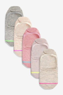 Pink Neppy Invisible Trainer Socks Five Pack