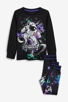 Monochrome Astronaut Pyjamas (3-16yrs)