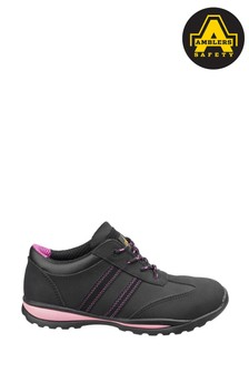 Amblers Safety Black/Pink FS47 Heat Resistant Lace-Up Safety Trainers