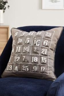 Penguin Advent Cushion