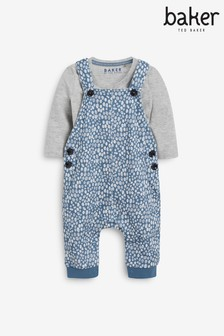 Baker by Ted Baker Spotted Dungaree Set