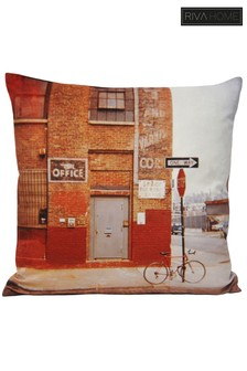 Shoreditch Graphic Print Cushion by Riva Home
