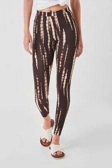 Chocolate Tie Dye Full Length Leggings