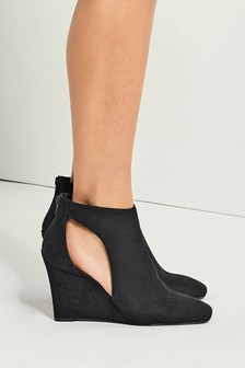 Black Slingback Closed Toe Shoe Boots