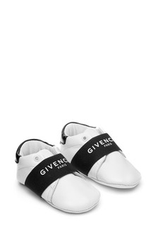 Baby White Leather Pre-Walker Shoes
