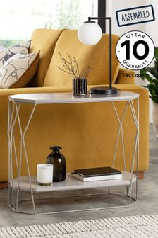 Grey Hex Sofa Side Table